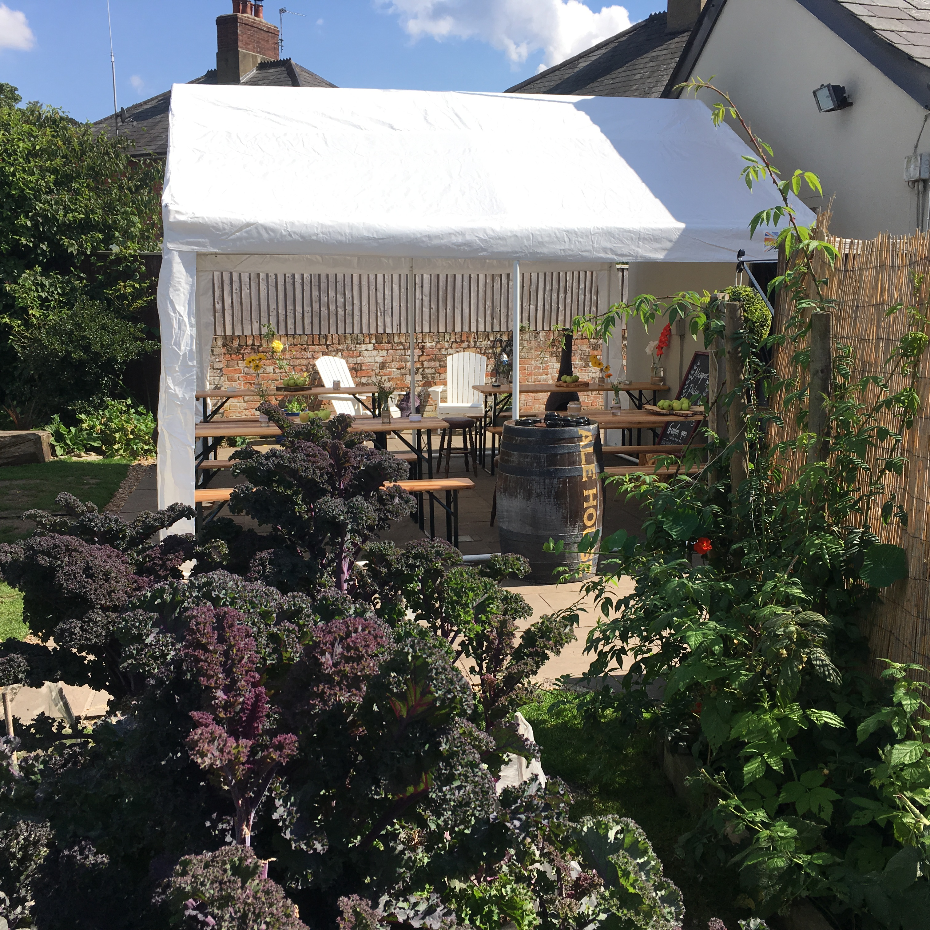 All weather Outdoor play area and beer tent- The Railway Craft Pub and Burger Joint