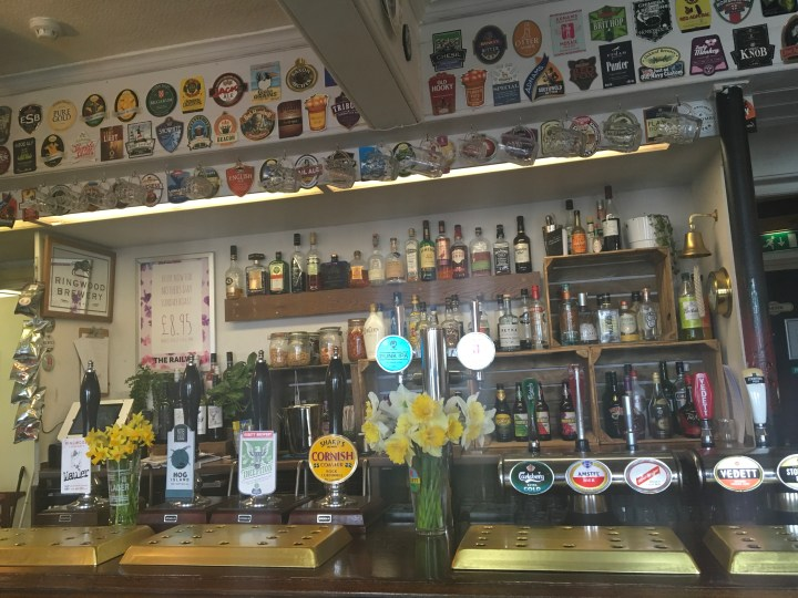 Craft Beer line up at New Forest Craft Pub the Railway