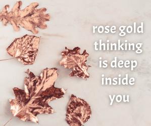 rosegold leaves