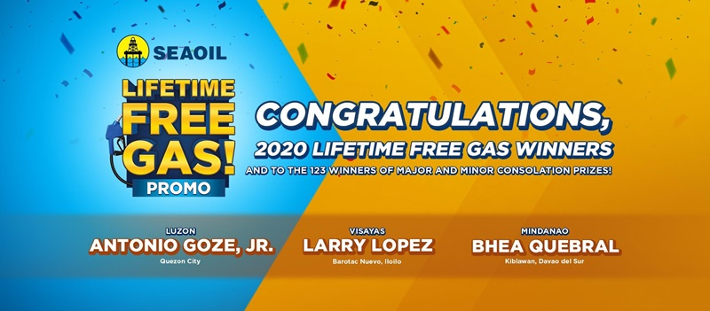 2020 Lifetime Free Gas Winners Of SEAOIL Promo Announced