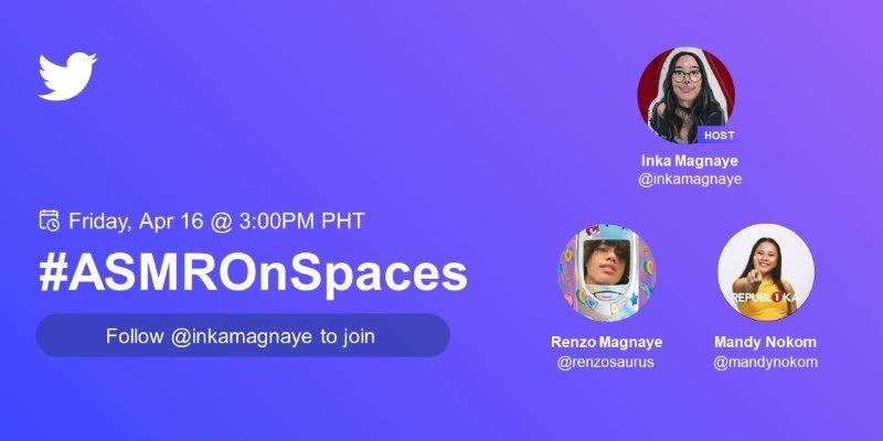 Celebrate The Power Of Voice With #ASMROnSpaces This April 16