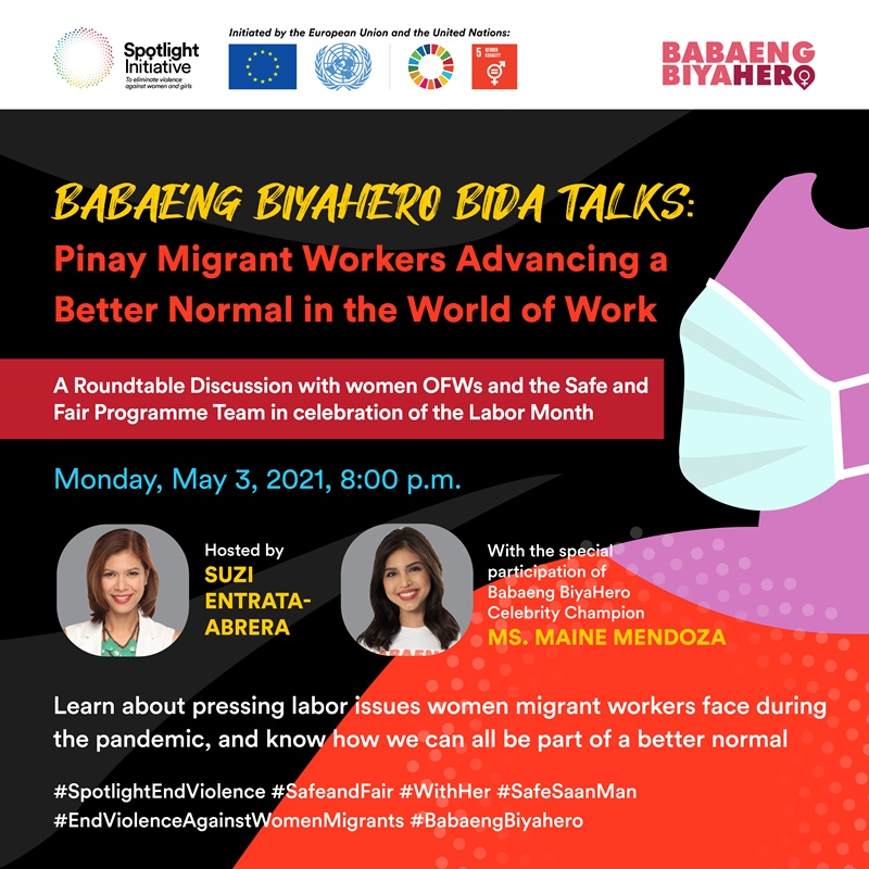 Safe And Fair Philippines Advocates For Ending Violence And Ensuring Jobs And Rights For Filipina OFWs In A New And Better Normal