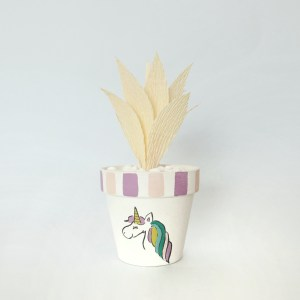 Ubiquitous Unicorn Pot with spiky aloe succulent