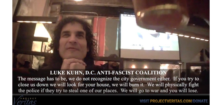 Undercover Video Shows Antifa Planning Terrorist Acts Against Trump Inauguration AT COMET PIZZA