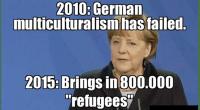 Merkel refugee double down