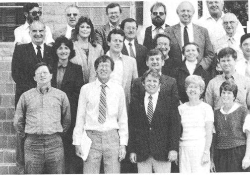 Science and Humanities Faculty 1986-1987 (front row, second from left)