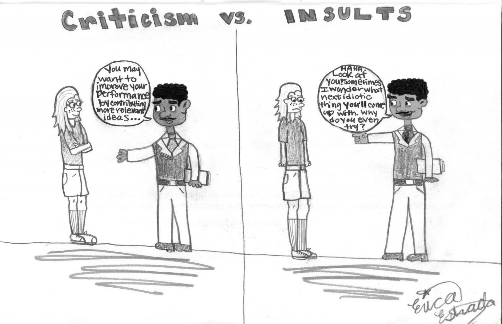 Know The Difference Between Criticism And Insults