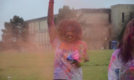 Wesleyan students celebrate Holi