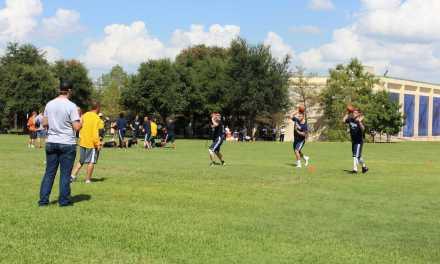 Football team resumes practice