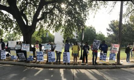Students protest Board of Trustees meeting