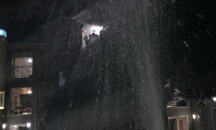 Sprinkler system soaks students