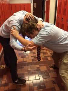 Senior wrestler Ed Ruff takes on senior Andrew Chludzinski