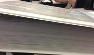Check out the thickness of this Senior Life Book project.