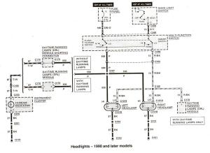 Wiring diagram for 1991 Ford e150 running lights  Ford
