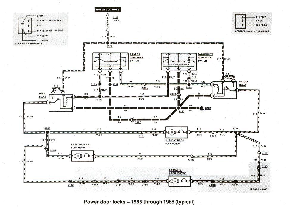 Diagram_Powerdoorlocks_1985thru1988 York Heat Pump Fuse Box on wiring diagram, disconnect carrier, motor wiring diagram, control circuit blowing, air-handler blowing,