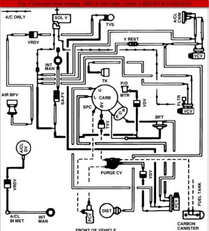 1984 Ford Ranger 23Liter 4Cylinder Vacuum Line Diagram