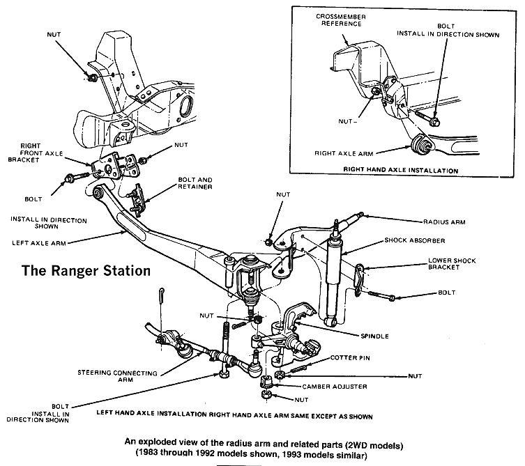 1994 Mazda B4000 Front Suspension
