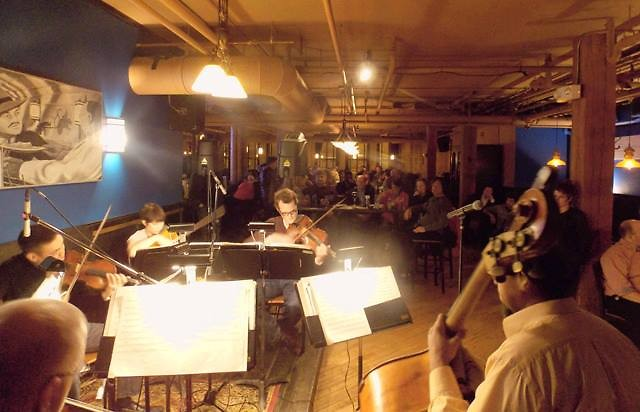 Members of the Grand Rapids Symphony at CRGR at the SpeakEZ Lounge