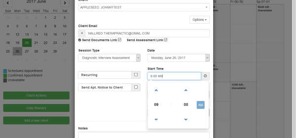 Screenshot 11 - Click Save Appointment