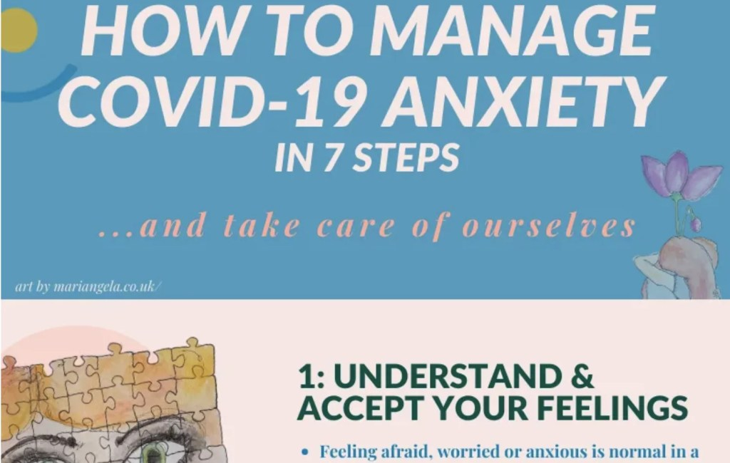 Preview of infographic on how to manage Covid-19 Anxiety
