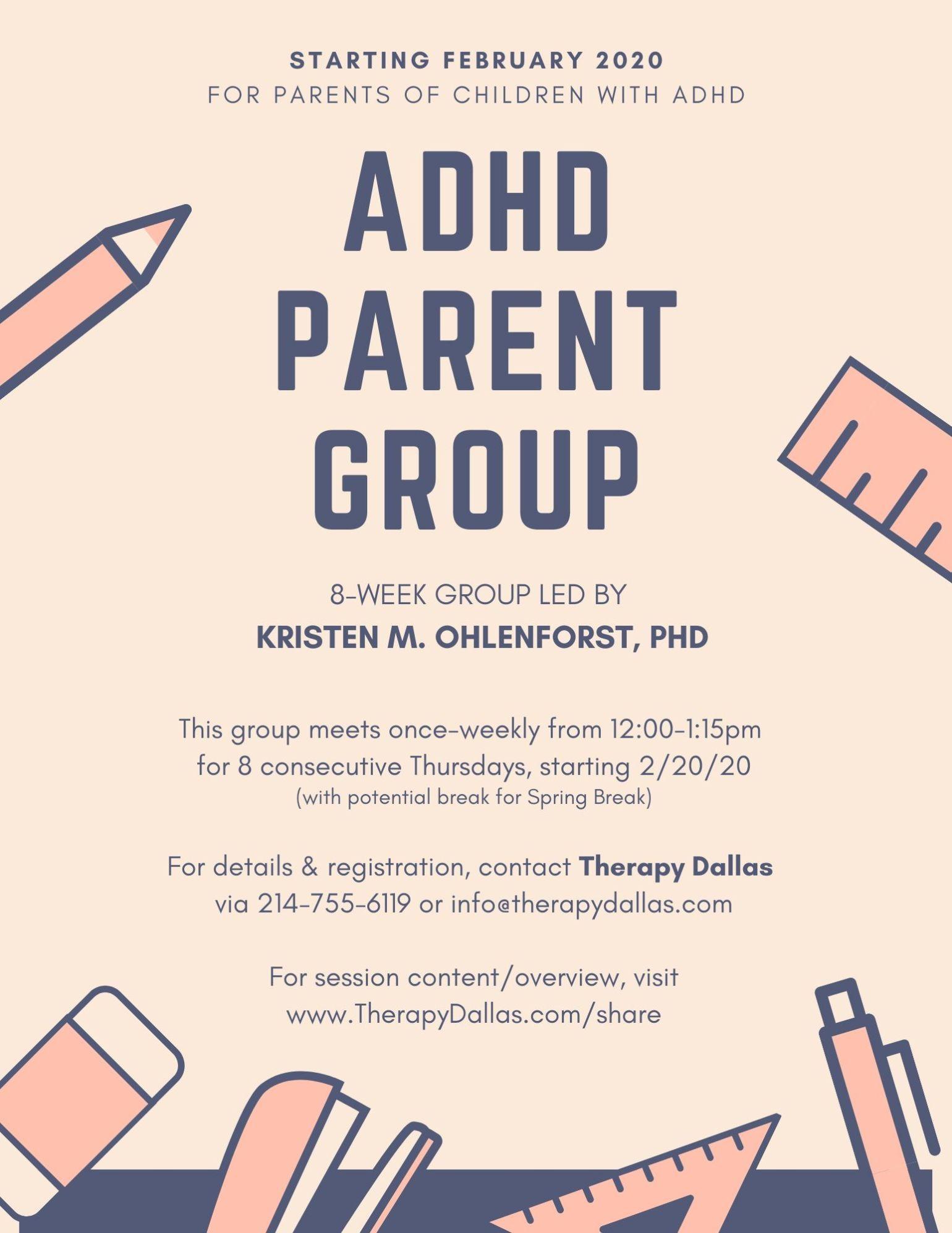 ADHD Parent Group 2020