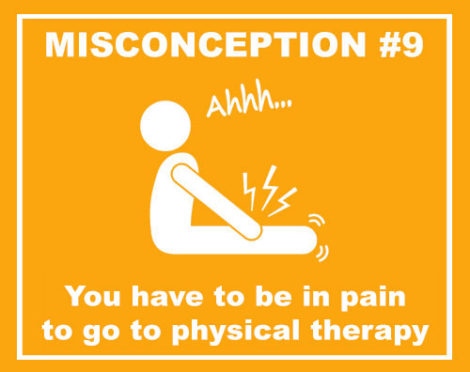 you have to be in pain to go to physical therapy