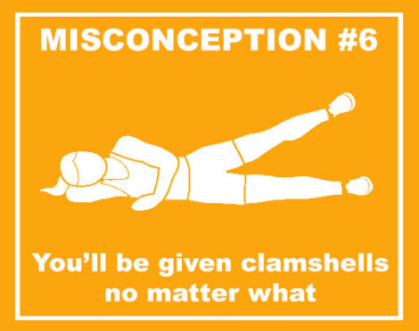 misconceptions clamshells no matter what