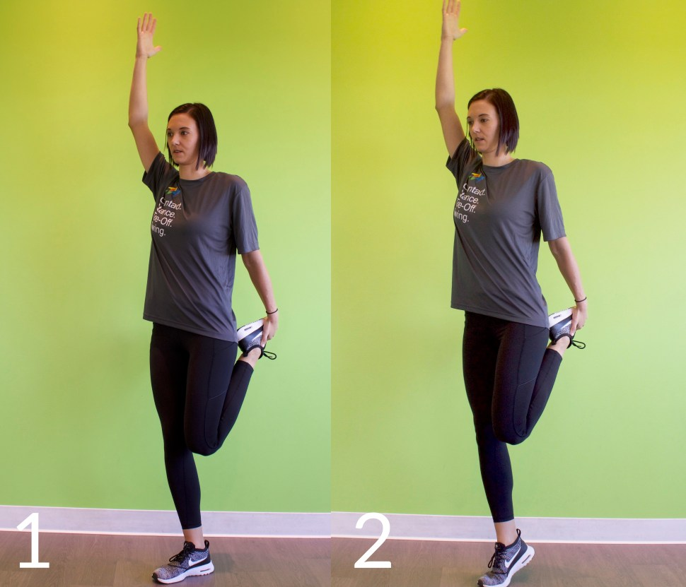 Quad Stretch Warmup for Runners Exercise Stretch Dynamic Warmup Injury Prevention