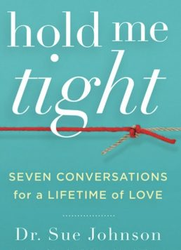 "Cover photo of ""Hold Me Tight"" book, the basis for Hold Me Tight program. This signifies intensive relationship help for lesbians wanting a couples workshop for lesbians using the Hold Me Tight Workshop format."