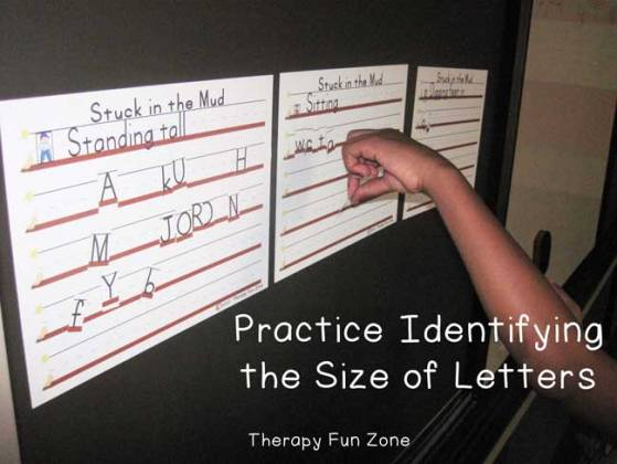 Stuck in The Mud Letter Sizes   Therapy Fun Zone Stuck in The Mud Letter Sizes
