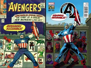 New Avengers (2013) #25 Incentive Kevin Nowian Deadpool 75th Anniversary Photobomb Variant