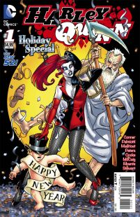 Harley Quinn Holiday Special #1 Cover B Variant Amanda Conner New Years Eve