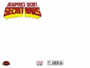 Deadpools Secret Secret Wars #1 Variant Blank