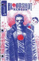 Bloodshot Reborn #10 Incentive Jeff Lemire Valiant Linewide Variant