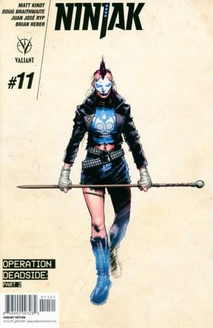 Ninjak Vol 3 #11 Incentive Trevor Hairsine Character Design Variant