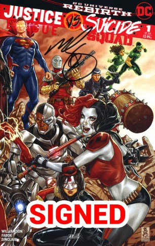 Justice League vs Suicide Squad #1 Midtown Exclusive Mark Brooks Connecting Variant Part 2 Signed