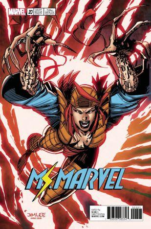 Ms Marvel Vol 4 #20 Variant Jim Lee X-Men Trading Card