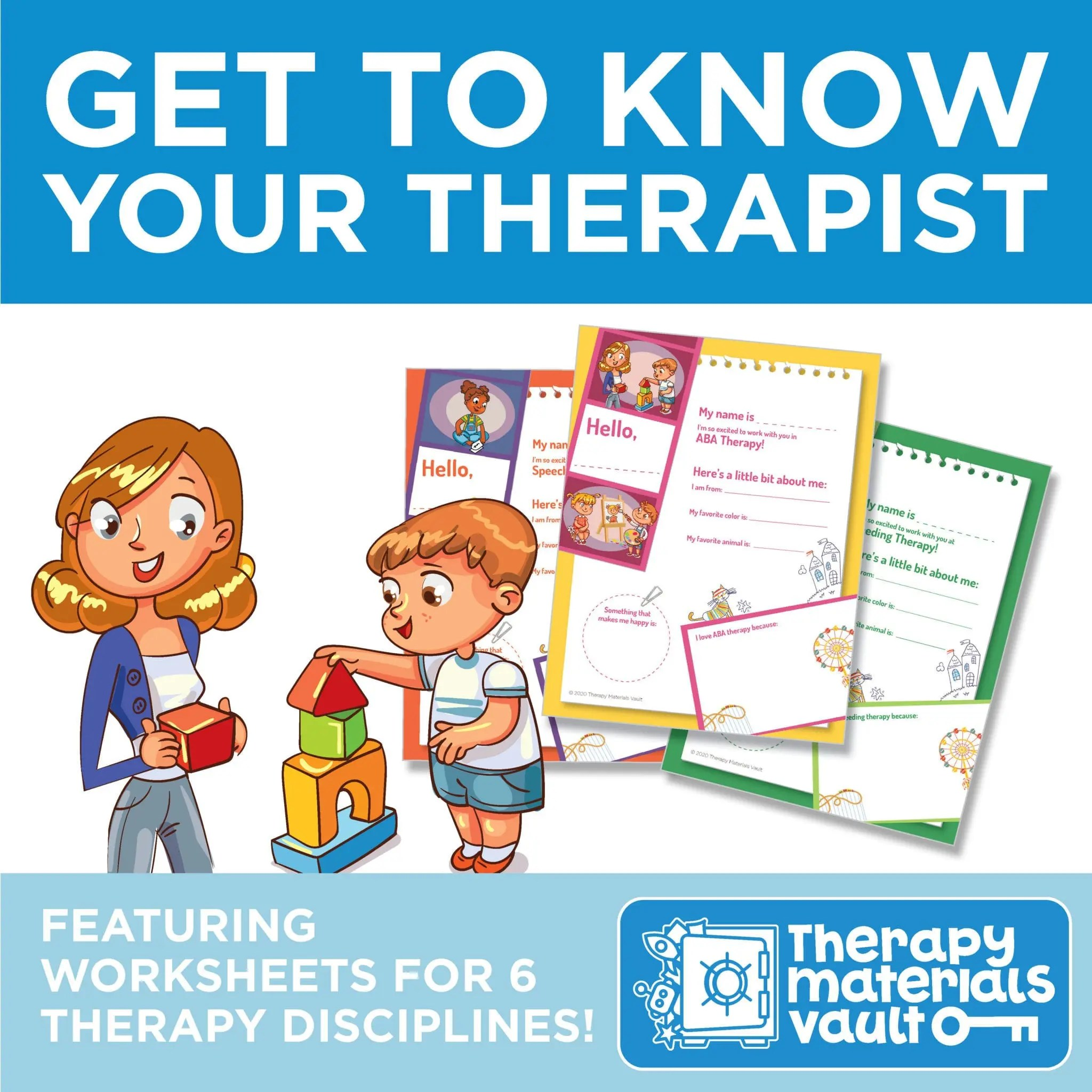Get To Know Your Therapist Worksheets