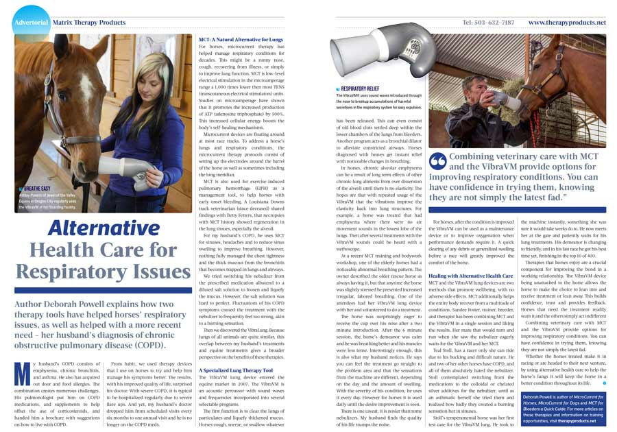 Copd Article Print Trainermag Matrix Therapy Products