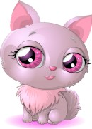 Pink-cat-girl-vector-material