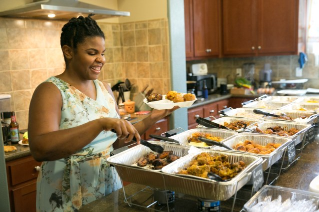Chantoll Williams of Rasta Mama's Kitchen serves up her delicious Jamaican Family Food