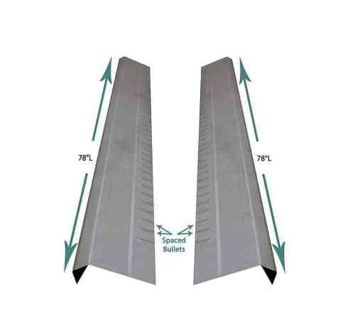 1999-07 Chevy Silverado and GMC Sierra Universal 4dr Extended Cab Outer Rocker Panels (Pair)