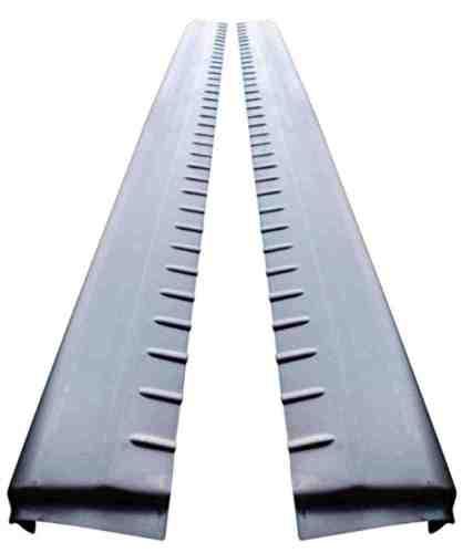 99-06 Chevy Silverado/GMC Sierra Extended Cab Lower Slip-On Metal Rocker Panels (Set of 2)