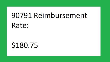 90791 reimbursement rate 2021