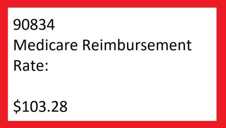 90834 reimbursement rate 2021