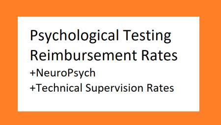 psychological testing reimbursement rates