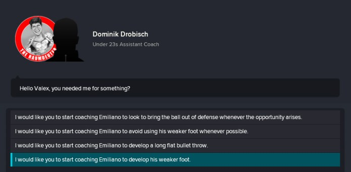 FM 18 Develop Weaker Foot