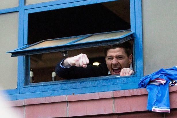 Gerrard celebrated at Ibrox on Saturday