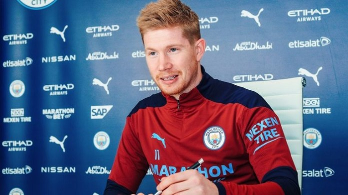 Man City midfielder Kevin De Bruyne signs contract extension until 2025