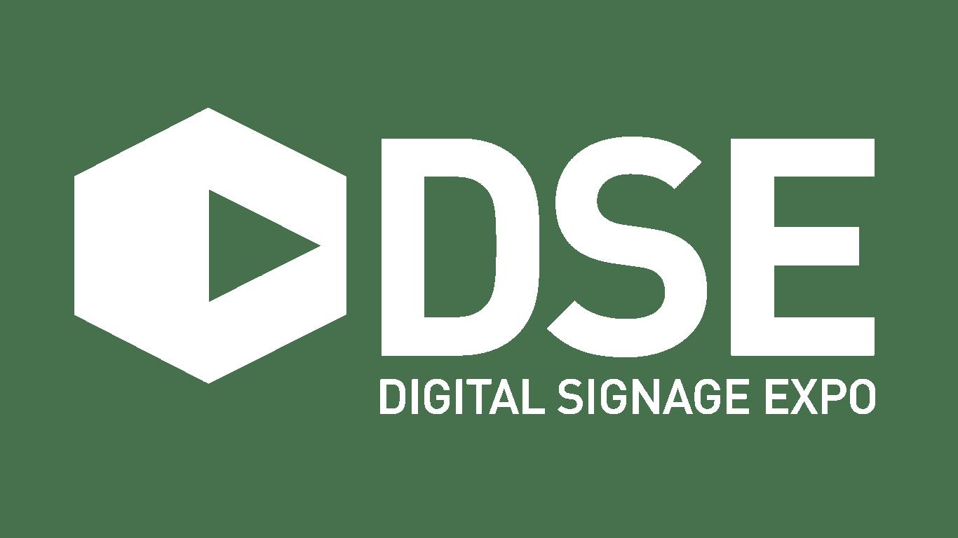 white logo for Digital Signage Expo